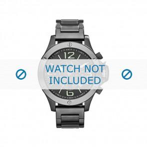 Armani correa de reloj AX-1507 Acero Gris 22mm