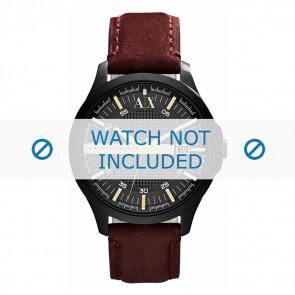 Armani correa de reloj AX-2130  Piel Marrón 22mm + costura marrón