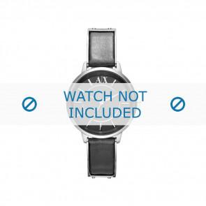 Armani correa de reloj AX-5303 Piel Negro 16mm