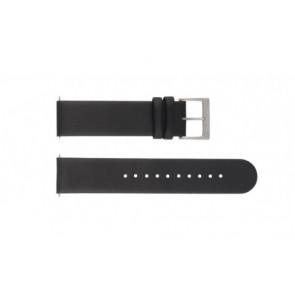 Mondaine correa de reloj BM20001 / FE16220.20Q Cuero Negro 20mm