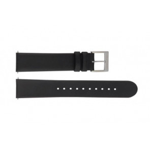 Mondaine correa de reloj BM20098 / FE16822.20Q.XL Cuero Negro 22mm