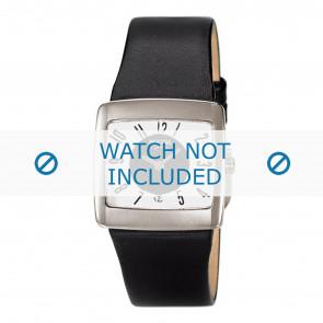 Boccia correa de reloj 3150-03-BO3150-03-40 Cuero Negro