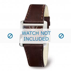 Boccia correa de reloj 3155-02-BO3155-02-40 Cuero Marrón 22mm + costura marrón