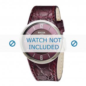 Boccia correa de reloj 3161-06-BO3161-06-40 Piel de cocodrilo Púrpura 26mm + costura violeta