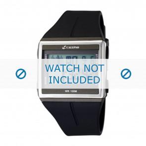 Calypso correa de reloj K6059-1 / K6059-2 / K6059-3 / K6059-4  Caucho / plástico Negro