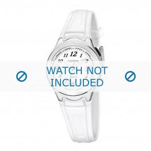 Calypso correa de reloj K6067-1 Caucho Blanco 7mm
