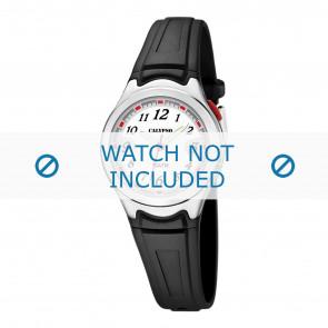 Calypso correa de reloj K6067-4 Caucho Negro 7mm