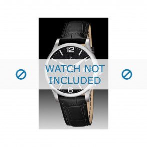 Candino correa de reloj C4494 Cuero Negro + costura negro