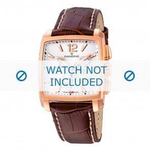 Candino correa de reloj  C4375-1 /  C4375-2 /  C4375-4 /  C4375-6 /  C4375-7 Cuero Marrón 22mm + costura blanca