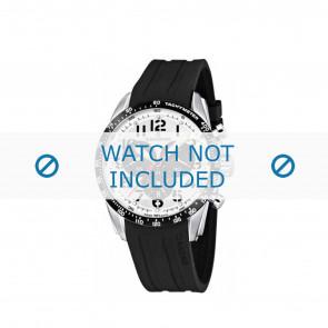 Candino correa de reloj C4472-1 / C4472-2 / C4472-3 / C4472-4 Caucho / plástico Negro 22mm