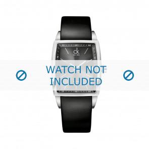 Calvin Klein correa de reloj K30411 Cuero Negro