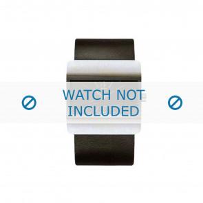 Calvin Klein correa de reloj K52211.04 / K600058403 Cuero Negro
