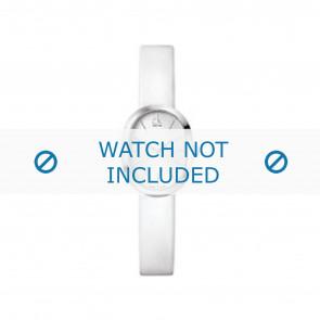 Calvin Klein correa de reloj K37232 Cuero Blanco