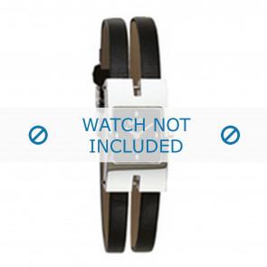 Dolce & Gabbana correa de reloj 3719250559 Cuero Negro 6mm