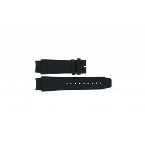 Dolce & Gabbana correa de reloj 3719770097 Cuero Negro 20mm + costura negro