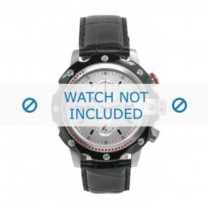 Dolce & Gabbana correa de reloj DW0366 Cuero Negro + costura negro