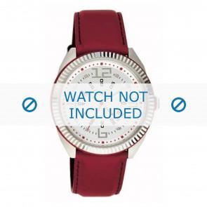 Dolce & Gabbana correa de reloj DW0032 Cuero Rojo 20mm + costura roja