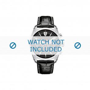 Ferrari correa de reloj SF-05-1-14-0021-689300026 Cuero Negro 22mm + costura gris