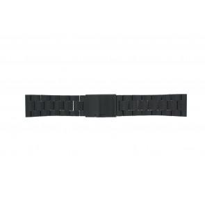 Fossil correa de reloj FS4552 / FS4718 / FS4719 / JR1356 Metal Negro 24mm
