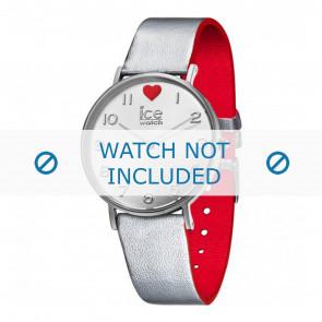 Ice Watch correa de reloj 013375 Cuero Plateado 18mm