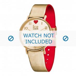 Ice Watch correa de reloj 013376 Cuero Dorado 18mm