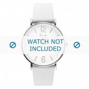 Ice Watch correa de reloj CT.WSR.36.L.16 Cuero Blanco 18mm