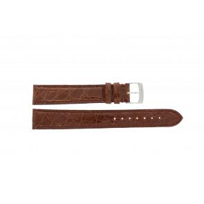 Morellato correa de reloj Amadeus XL G.Croc Gl K0518052041CR18 / PMK041AMADEU18 Cuero de cocodrilo Marrón 18mm + costura predeterminada