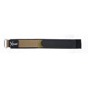 Correa de reloj de velcro 20mm marrón claro