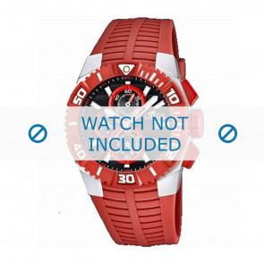 Lotus style correa de reloj 15778.2 Caucho / plástico Rojo
