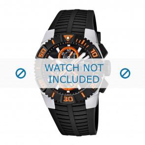 Lotus style correa de reloj 15778.5 / 15778.6 / 15778.7 / 15778.8 Caucho / plástico Negro