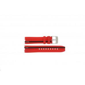 Lotus correa de reloj 15881/2 Caucho / plástico Rojo 22mm
