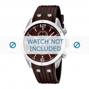 Lotus style correa de reloj 15969-3 Caucho / plástico Marrón 23mm