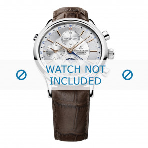 Maurice Lacroix correa de reloj LC6078-SS001-131 Cuero Marrón + costura marrón