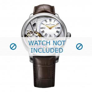 Maurice Lacroix correa de reloj MP6118-SS001-112-2 Cuero de cocodrilo Marrón + costura marrón