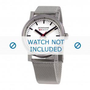 Mondaine correa de reloj BM20126 / BM20038 / 30300 / 30314 / Classic 36 / Evo 35  Metal Plateado 18mm