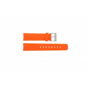 Nautica correa de reloj A31505G / N14538G / N19523 / N14612G / A13010G Caucho / plástico Naranja 22mm