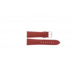 Davis correa de reloj B0194 Cuero Rojo 22mm