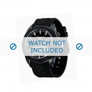 Police correa de reloj P-12076J/JSB/02 Caucho / plástico Negro
