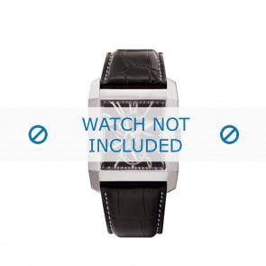 Police correa de reloj PL-10966MS/02 Cuero Negro + costura blanca