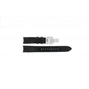 Seiko correa de reloj 7D48-0AA0 / 7T62-0FF0 / 4KK6JZ / 34H6JZ / SNP005P1 Cuero Negro 20mm + costura negro
