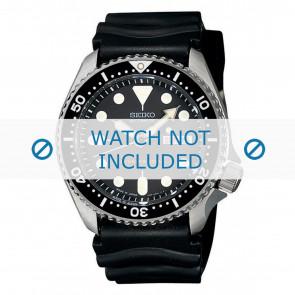 Seiko correa de reloj 7S26-0020-SKX007K1 Caucho Negro 22mm