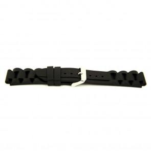 Correa de reloj Goma 24mm Negro EX K63 26 1 24