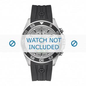 Swiss Military Hanowa correa de reloj 06-4222.04.009 Caucho / plástico Negro 24mm