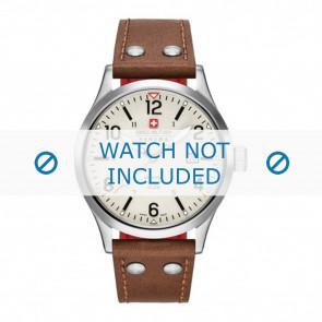 Swiss Military Hanowa correa de reloj 06-4280.04.002.05 Cuero Cognac 22mm + costura blanca