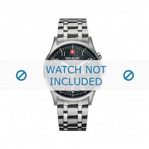 Swiss Military Hanowa correa de reloj 06-5187.04.007 Metal Plateado 22mm