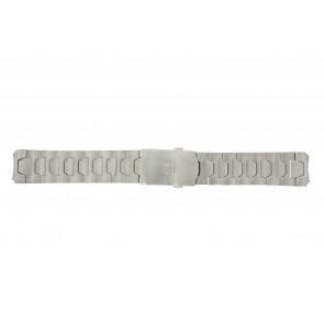Tissot correa de reloj T013.420.44.202.00 - T605026146 / T013.420.A Titanio Plateado 21mm