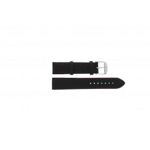 Tissot correa de reloj T049.417 - T600031360 / T038.430 / T049.410 / T033.410 / T71.3.633 / T71.3.623 / T033.423 Cuero Negro 19mm + costura roja