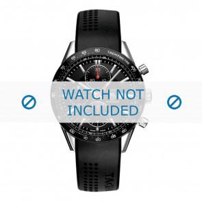 Tag Heuer correa de reloj CV2014-FT6014-BT6015 20x3mm Caucho Negro 20mm