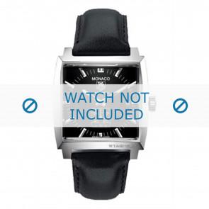 Tag Heuer correa de reloj FC6171 Cuero Negro + costura negro