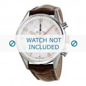Tag Heuer correa de reloj FC6236 Cuero Marrón + costura marrón